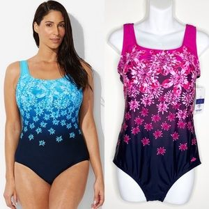 NWT Swimsuits For All Exploded Floral Swimsuit 18